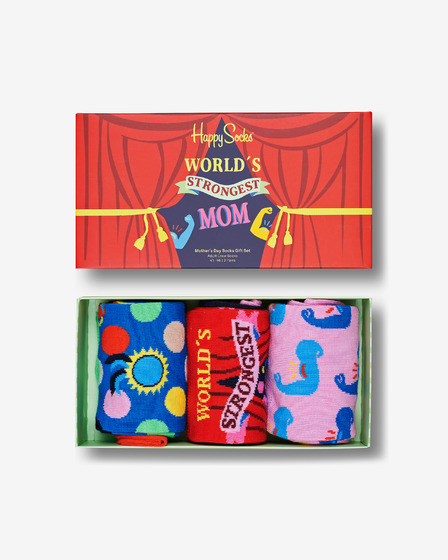 Happy Socks Mother´s Day Set de 3 perechi de șosete