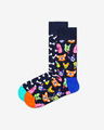 Happy Socks Dog Gift Box Set de 2 perechi de șosete