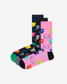 Happy Socks Cat Gift Box Set de 3 perechi de șosete